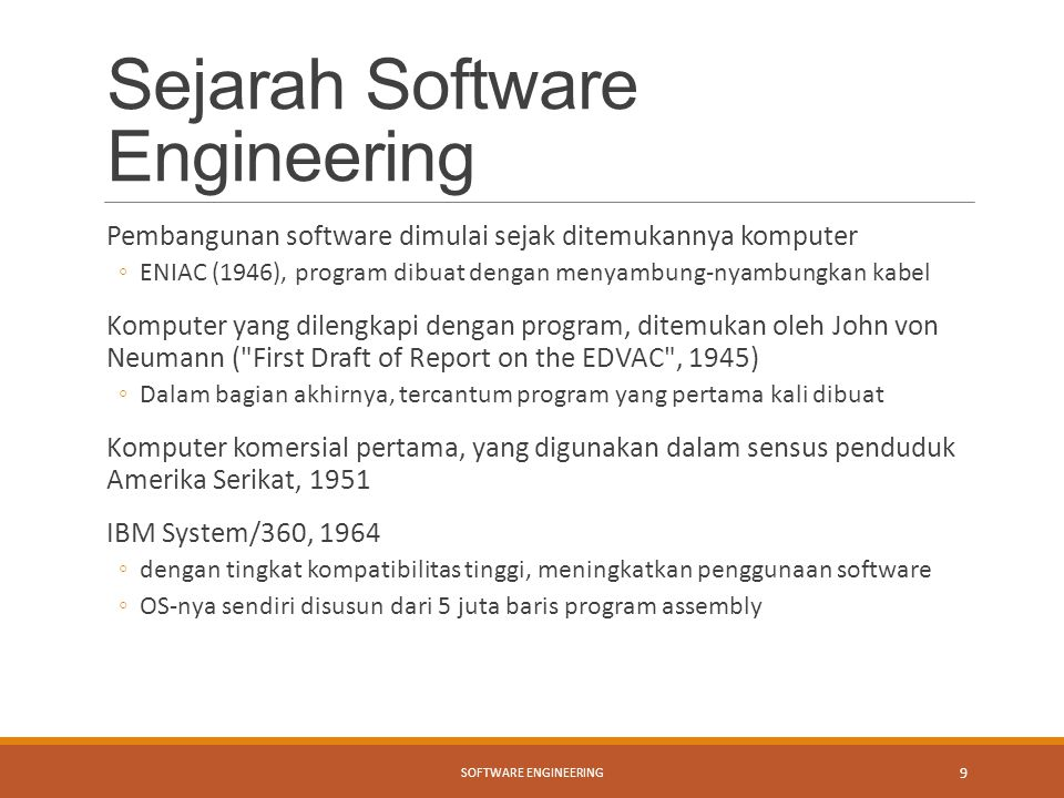 Sejarah Software Engineering