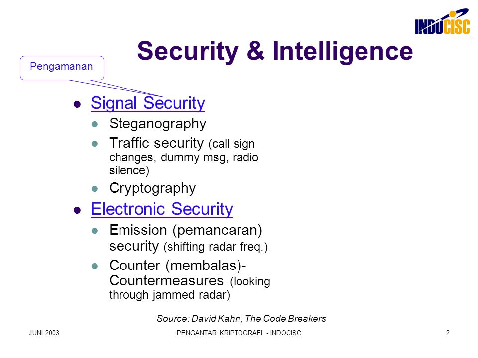 Security & Intelligence