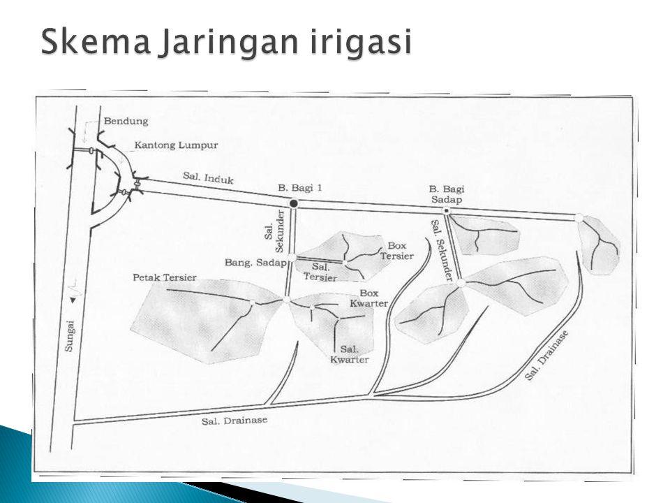 Skema Jaringan irigasi