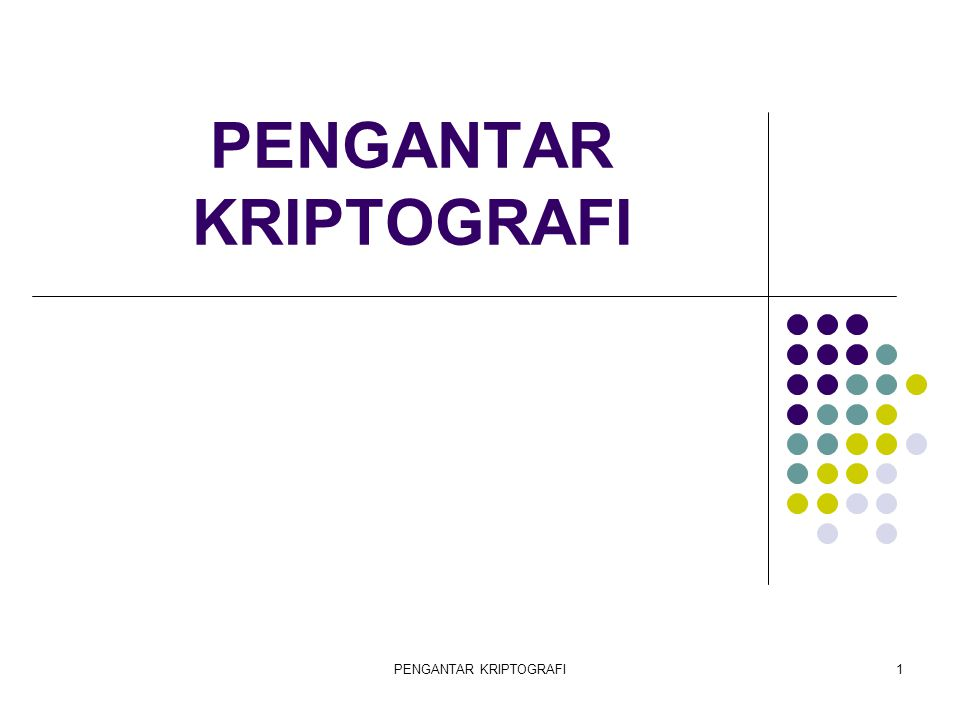 PENGANTAR KRIPTOGRAFI