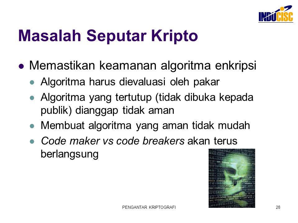 Masalah Seputar Kripto