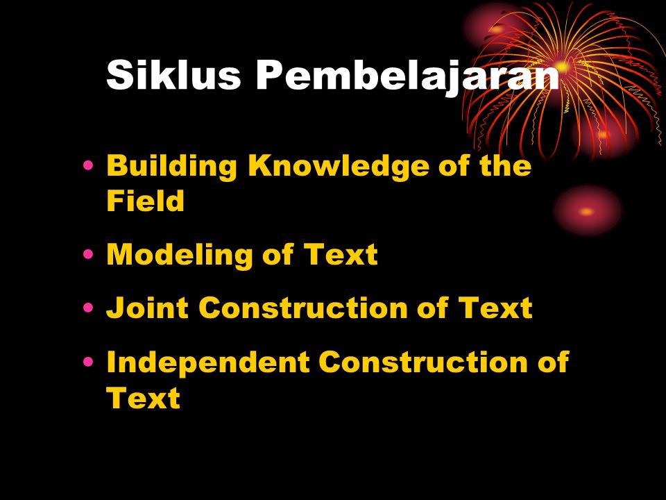 Siklus Pembelajaran Building Knowledge of the Field Modeling of Text