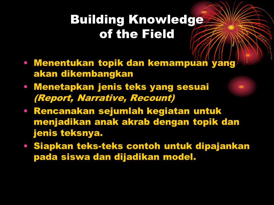 Building Knowledge of the Field