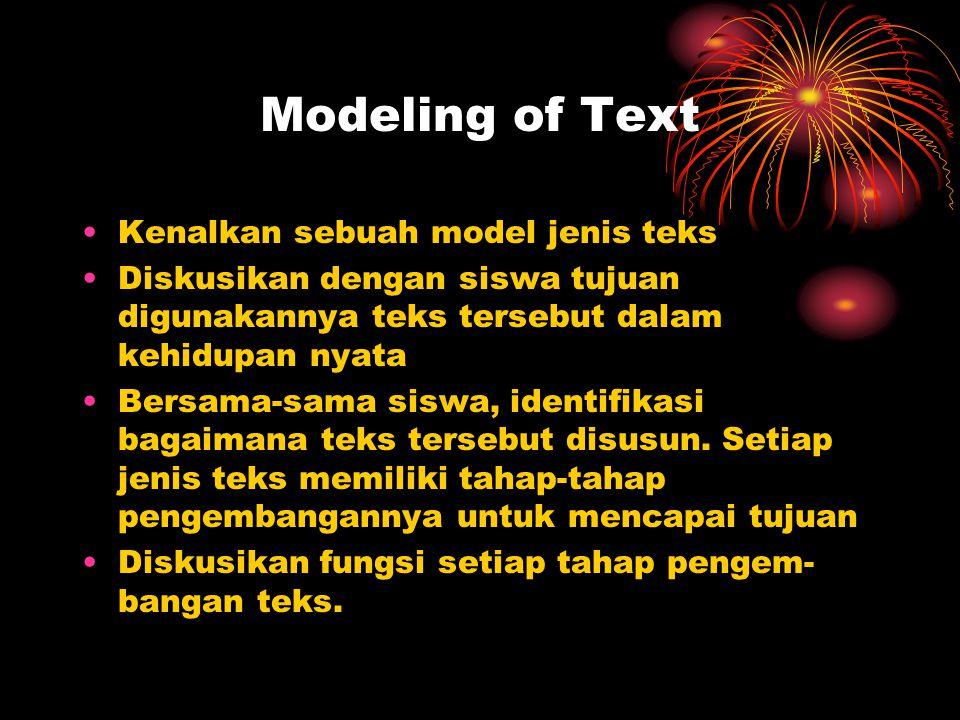 Modeling of Text Kenalkan sebuah model jenis teks