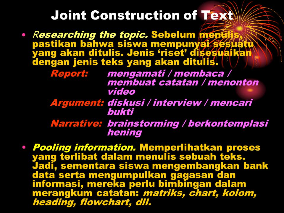 Joint Construction of Text