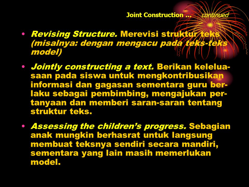 Joint Construction … continued