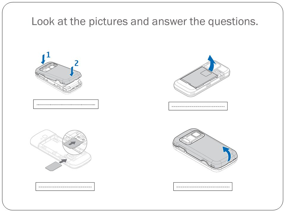 Look at the pictures and answer the questions.