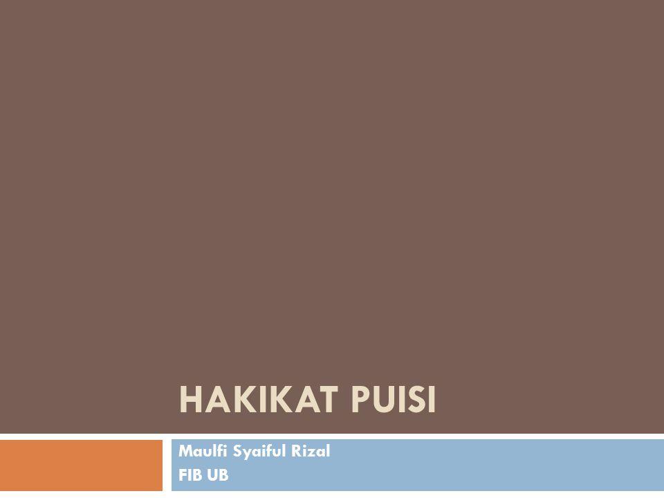 Maulfi Syaiful Rizal FIB UB