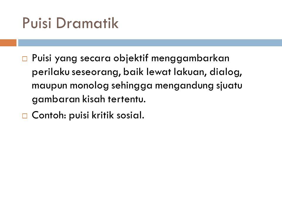 Puisi Dramatik