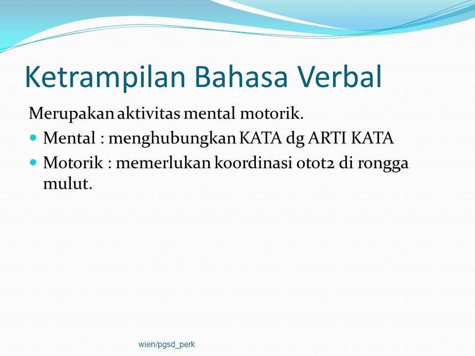 Ketrampilan Bahasa Verbal