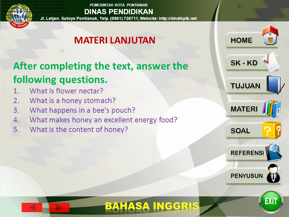 After completing the text, answer the following questions.