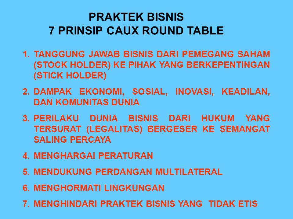 7 PRINSIP CAUX ROUND TABLE