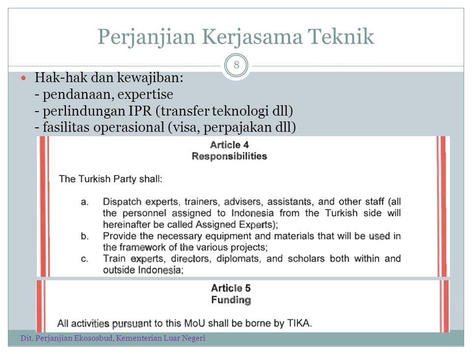 Perjanjian Kerjasama Teknik