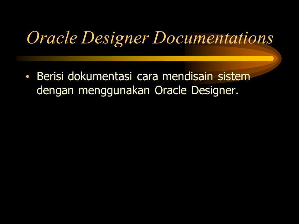 Oracle Designer Documentations
