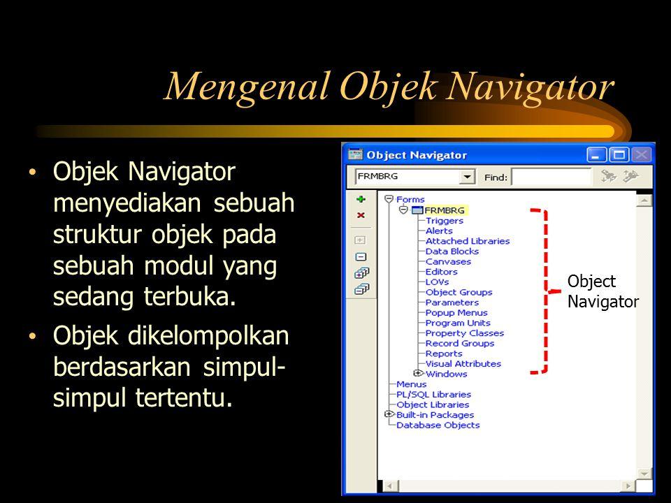 Mengenal Objek Navigator