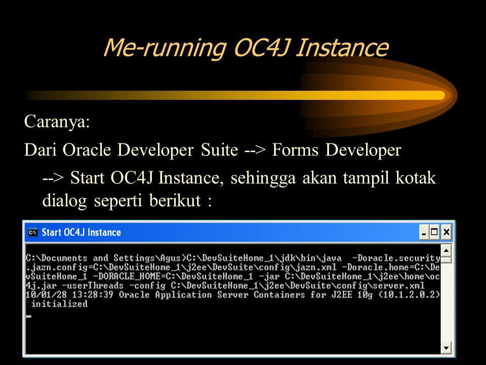 Me-running OC4J Instance