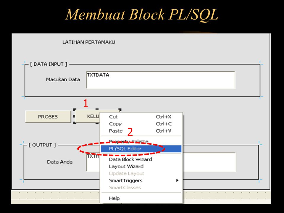 Membuat Block PL/SQL 1 2