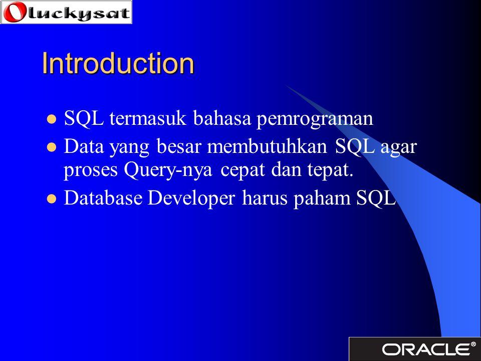 Introduction SQL termasuk bahasa pemrograman
