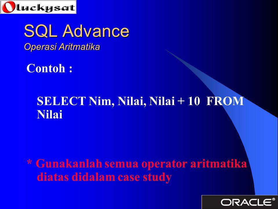 SQL Advance Operasi Aritmatika