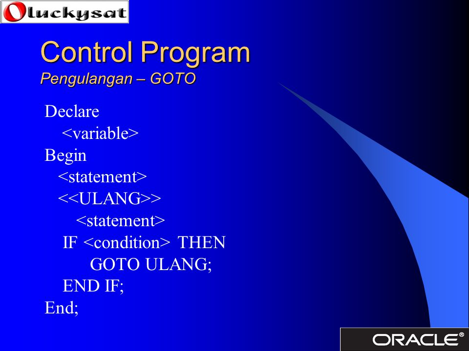 Control Program Pengulangan – GOTO