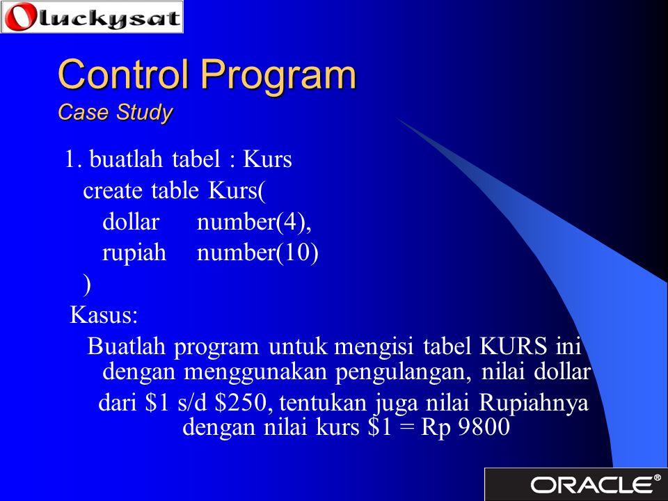Control Program Case Study