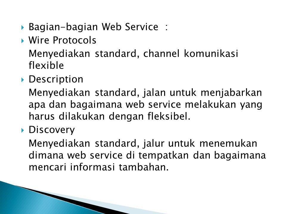 Bagian-bagian Web Service :