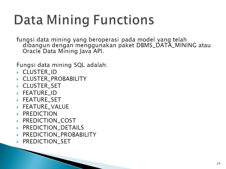 Data Mining Functions