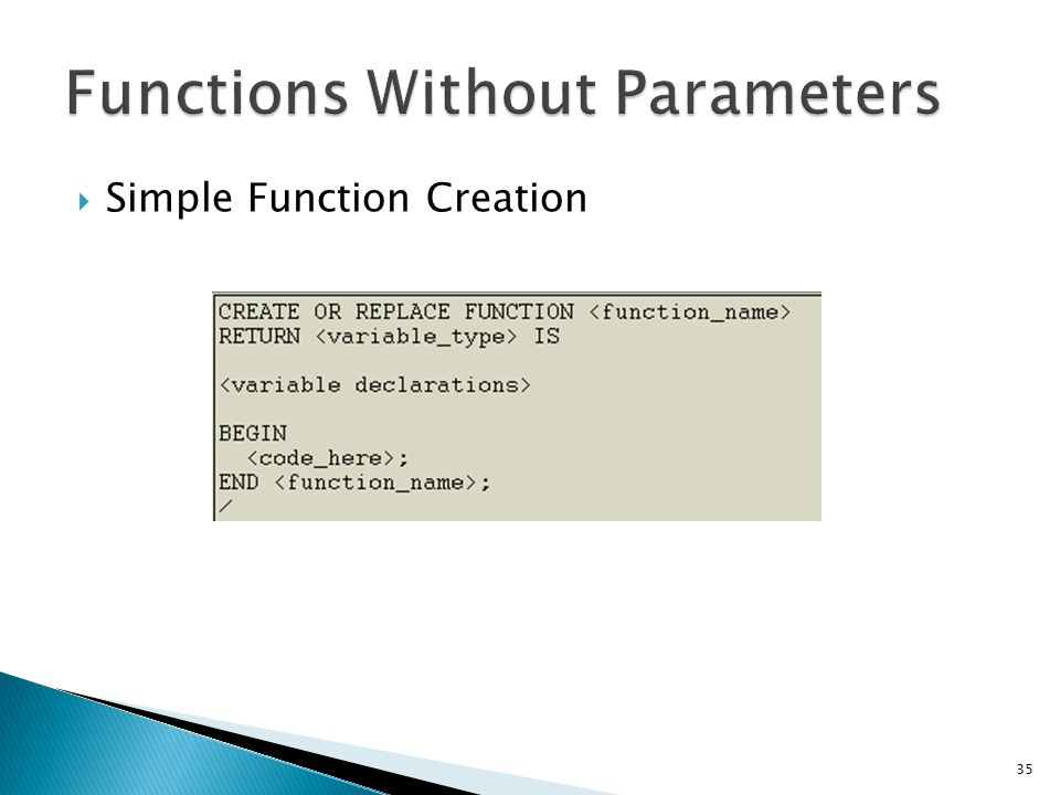 Functions Without Parameters