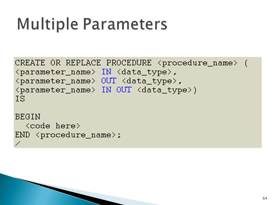 Multiple Parameters