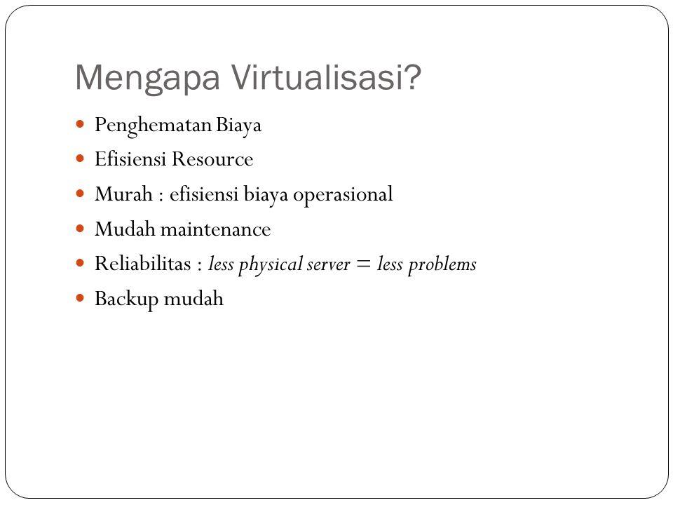 Mengapa Virtualisasi Penghematan Biaya Efisiensi Resource