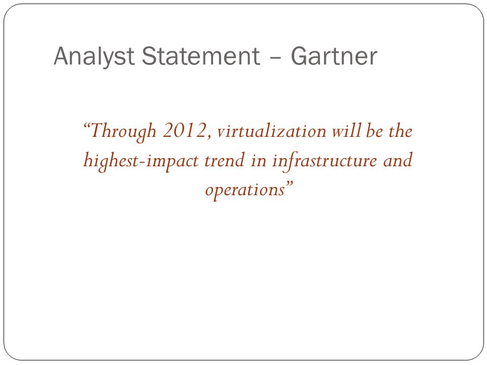 Analyst Statement – Gartner