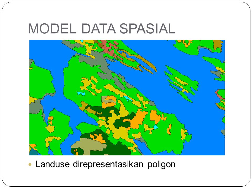 MODEL DATA SPASIAL Landuse direpresentasikan poligon