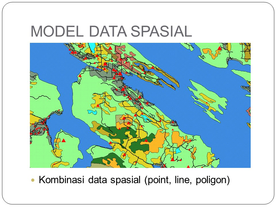 MODEL DATA SPASIAL Kombinasi data spasial (point, line, poligon)