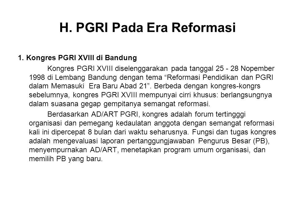 H. PGRI Pada Era Reformasi
