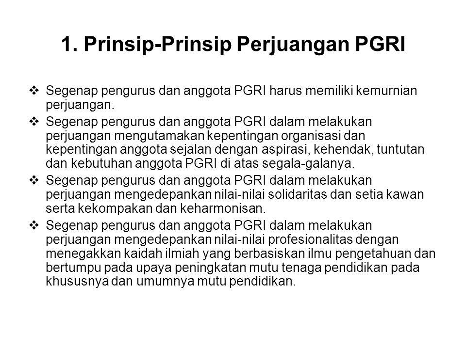 1. Prinsip-Prinsip Perjuangan PGRI