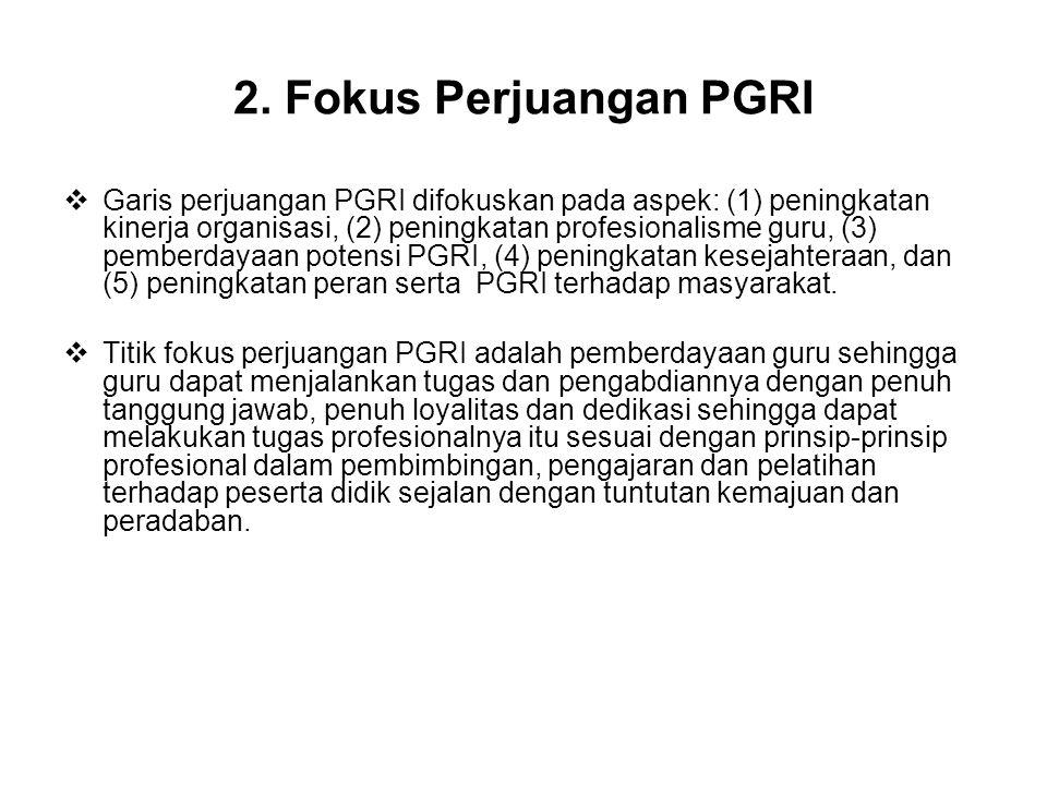 2. Fokus Perjuangan PGRI