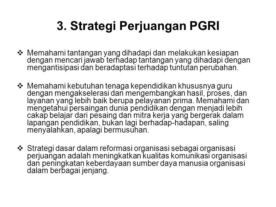 3. Strategi Perjuangan PGRI
