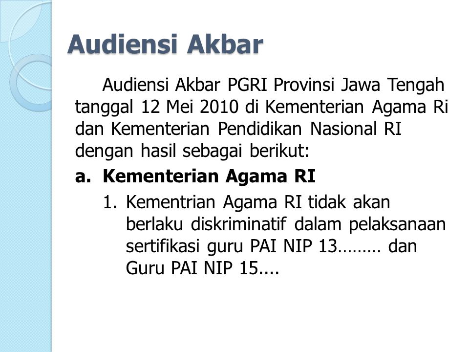 Audiensi Akbar