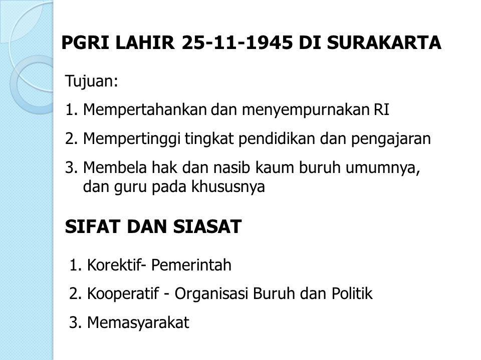 PGRI LAHIR 25-11-1945 DI SURAKARTA