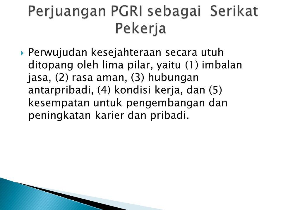 Perjuangan PGRI sebagai Serikat Pekerja