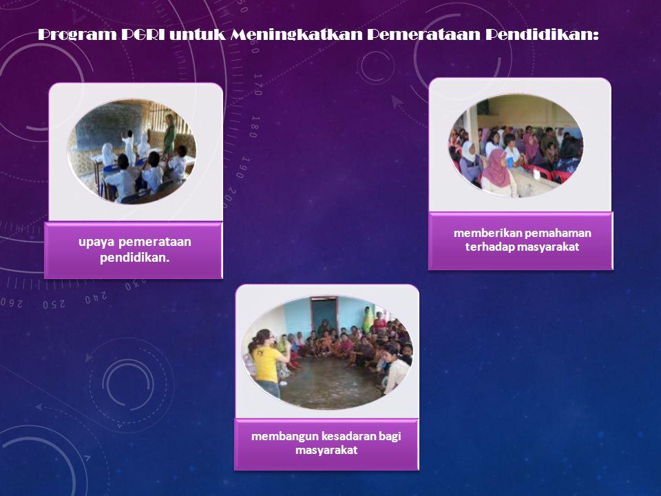Program PGRI untuk Meningkatkan Pemerataan Pendidikan: