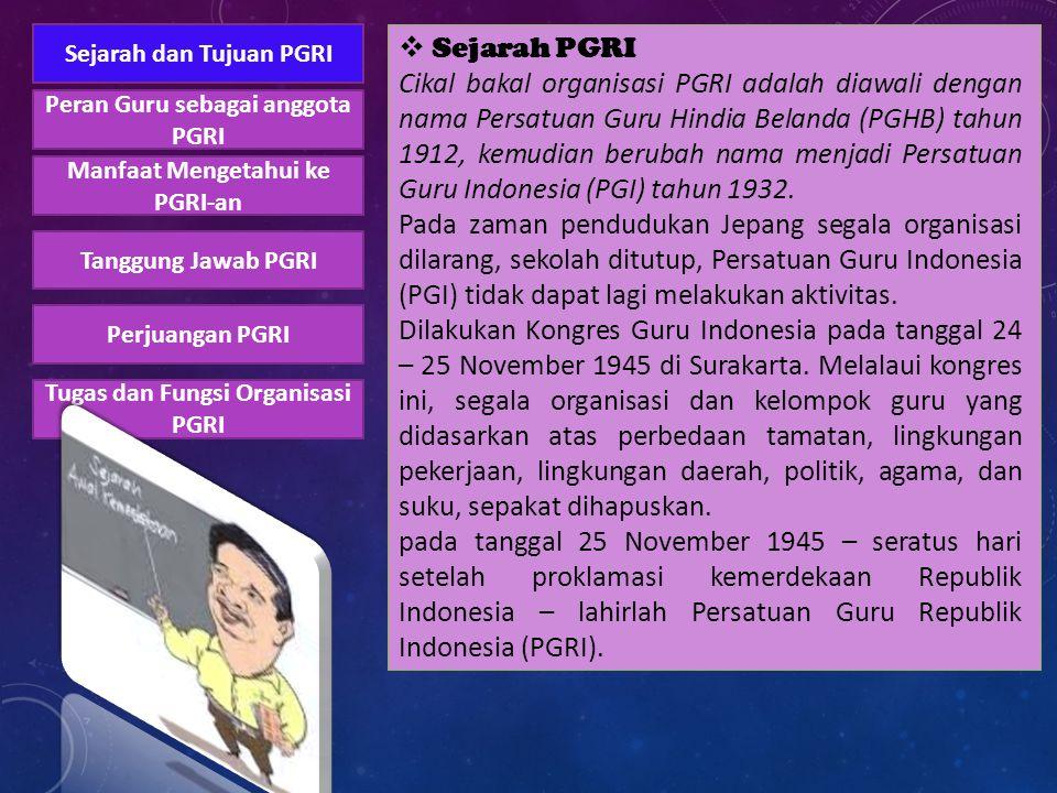 Sejarah dan Tujuan PGRI