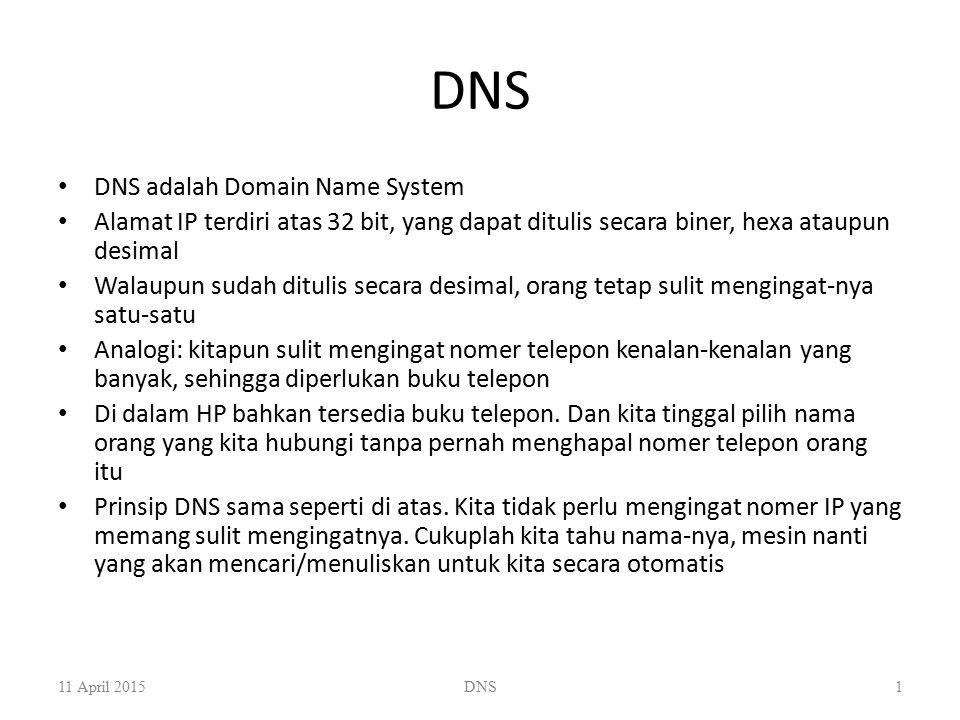 DNS DNS adalah Domain Name System