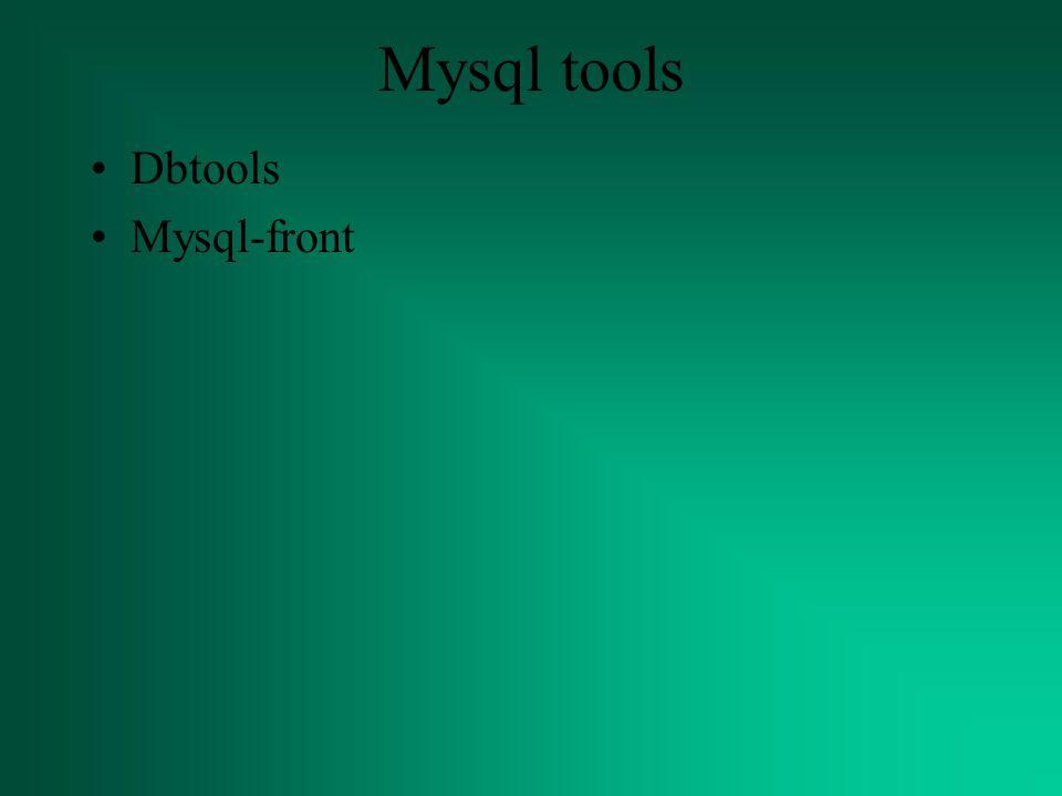 Mysql tools Dbtools Mysql-front