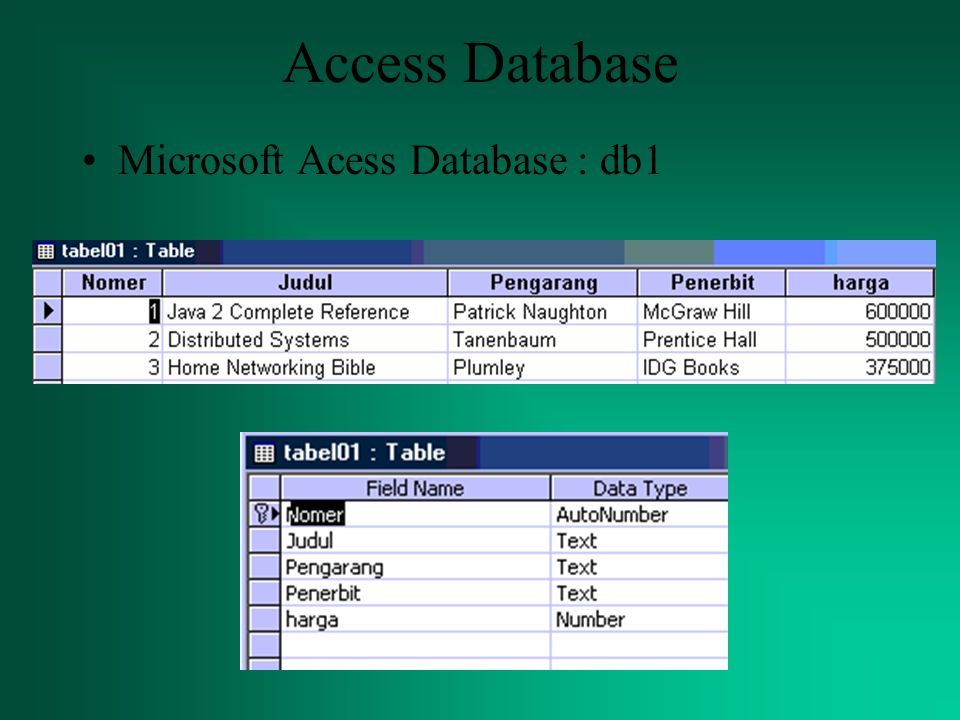 Access Database Microsoft Acess Database : db1