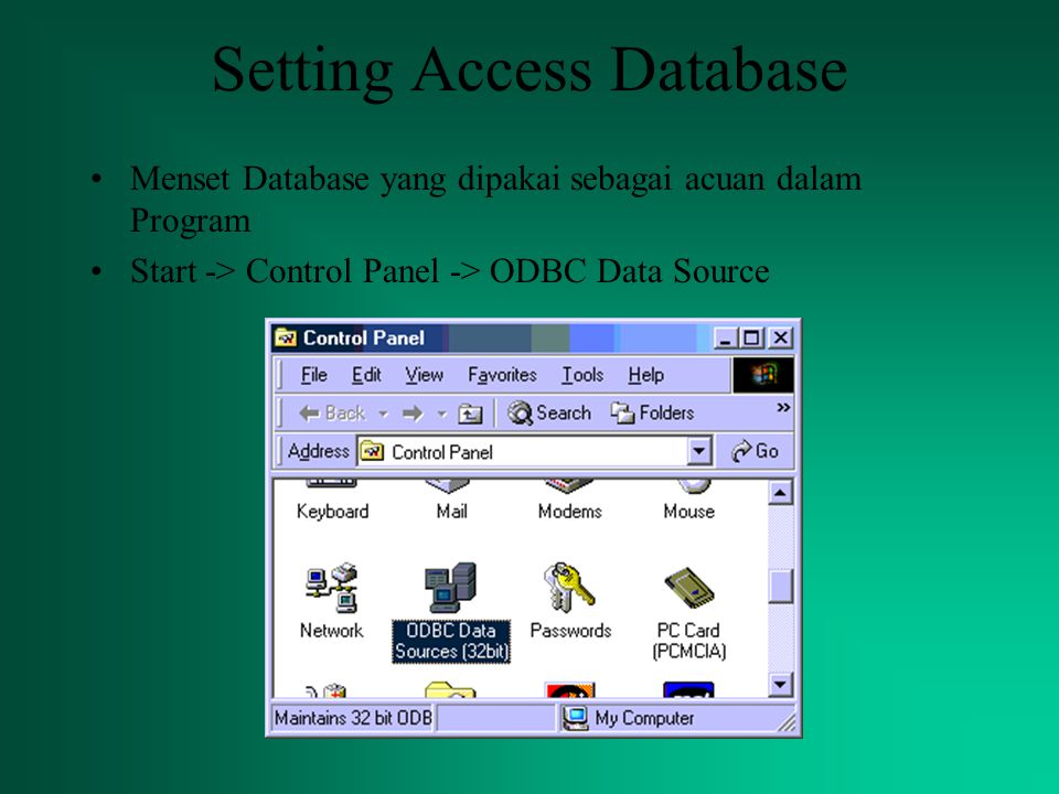Setting Access Database