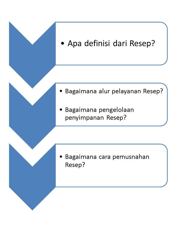 Apa definisi dari Resep