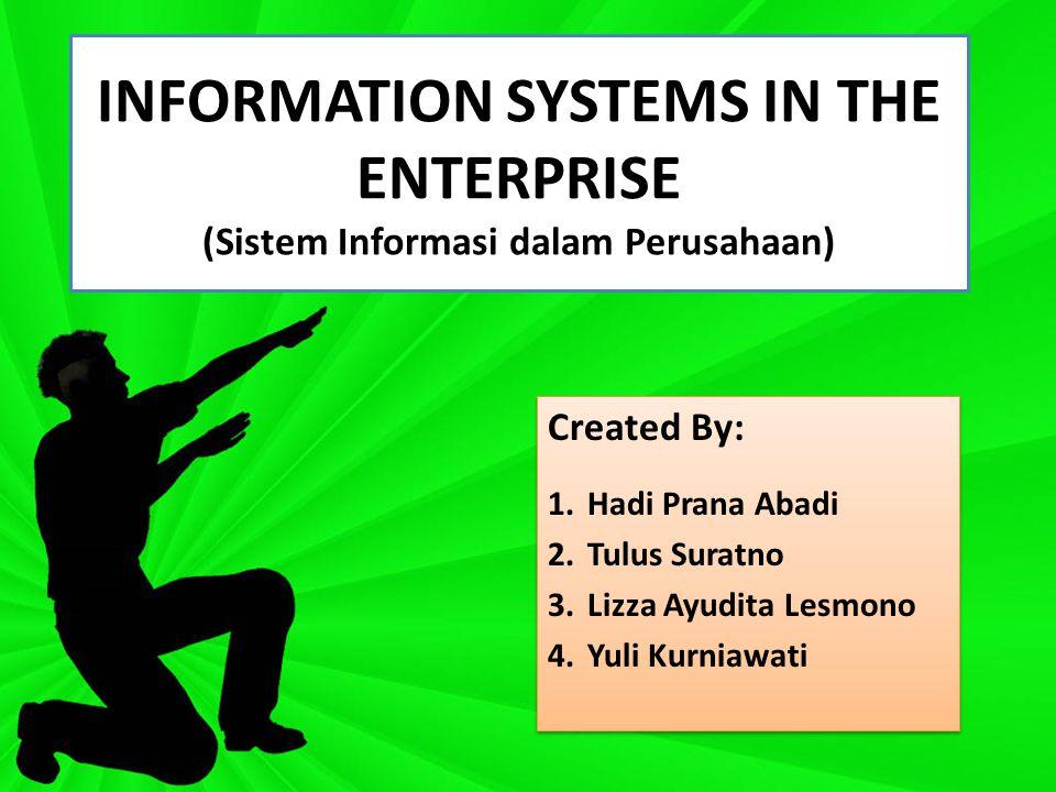 INFORMATION SYSTEMS IN THE ENTERPRISE (Sistem Informasi dalam Perusahaan)