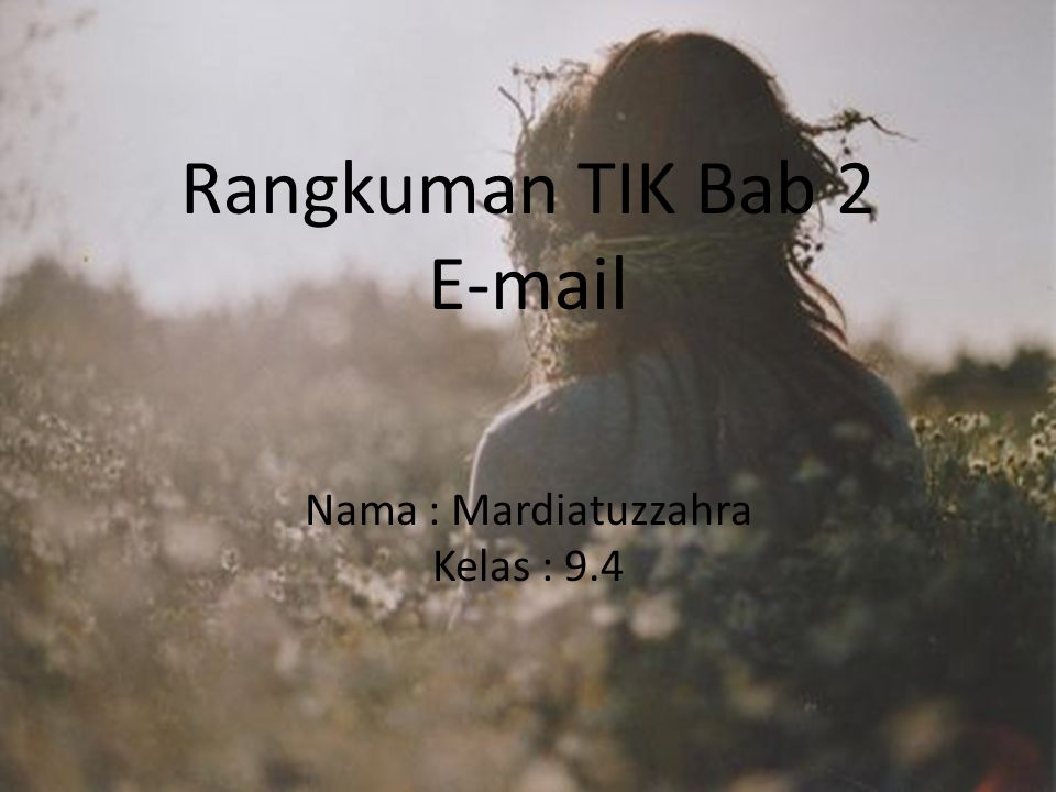 Rangkuman TIK Bab 2 E-mail