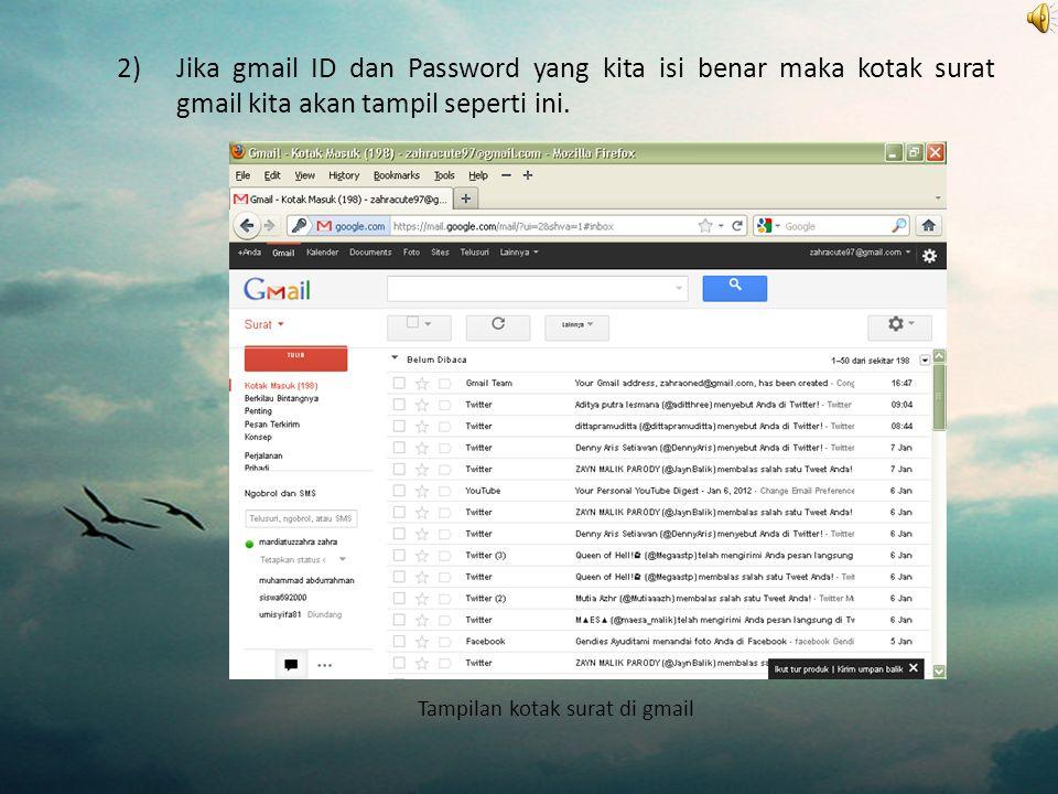 Tampilan kotak surat di gmail